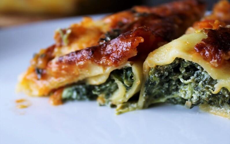 Canneloni med spinat og ricotta