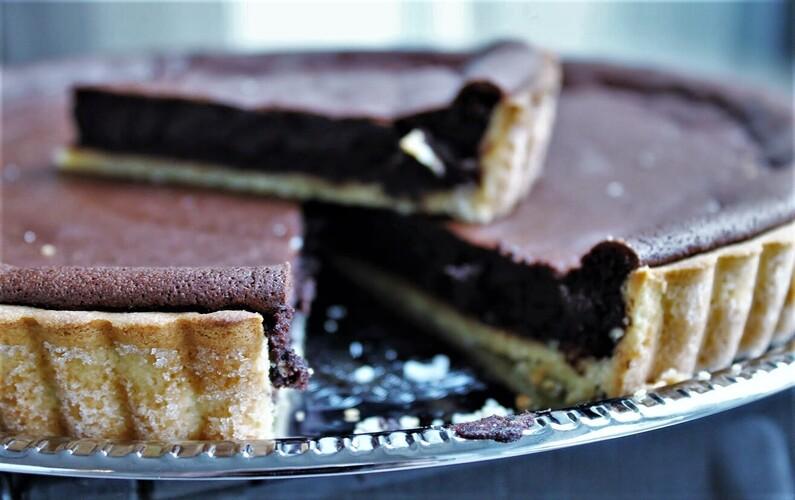 Bagt chokoladetærte