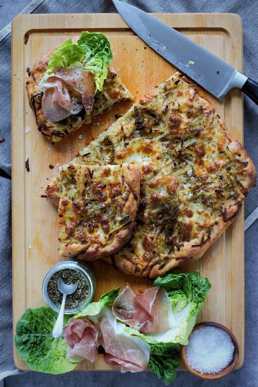Pizzabrød med kartoffel
